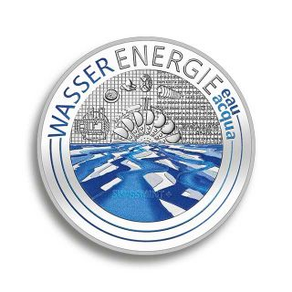 Swissmint CHF 20 Silver coin water energy - proof