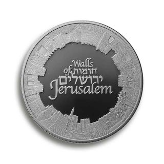 1 oz Silbermünze - Walls of Jerusalem