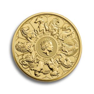 1 oz Queen's Beasts The White Horse of Hanover Goldmünze 2020