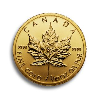 1/10 oz Canadian Maple Leaf Goldmünze