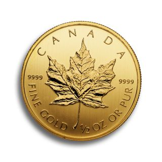 1/2 oz Canadian Maple Leaf Goldmünze