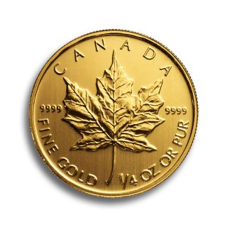 1/4 oz Canadian Maple Leaf Goldmünze