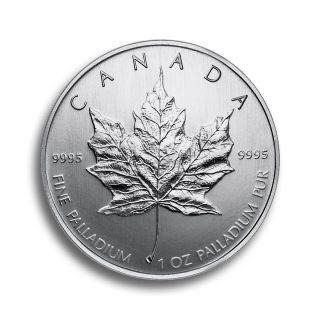 1 oz Canadian Maple Leaf Palladiummünze