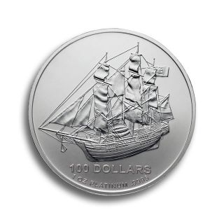 1 oz Cook Islands Platinmünze