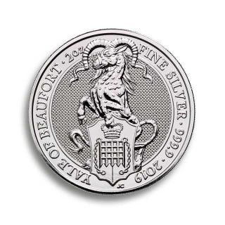 2 oz Queen's Beasts 2019 The Falcon of the Plantagenets Silbermünze 2019