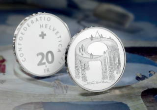 Swissmint CHF 20 SILVER COIN Illusion  - PROOF